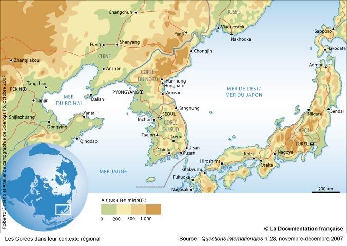carte-coree-du-sud-environs